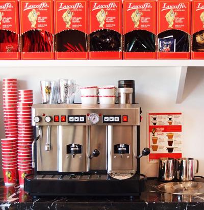 Cecilia 2 group Head Coffee Machine in Kitchen