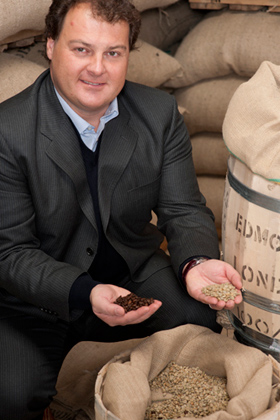 Lian Luca with Coffee Beans