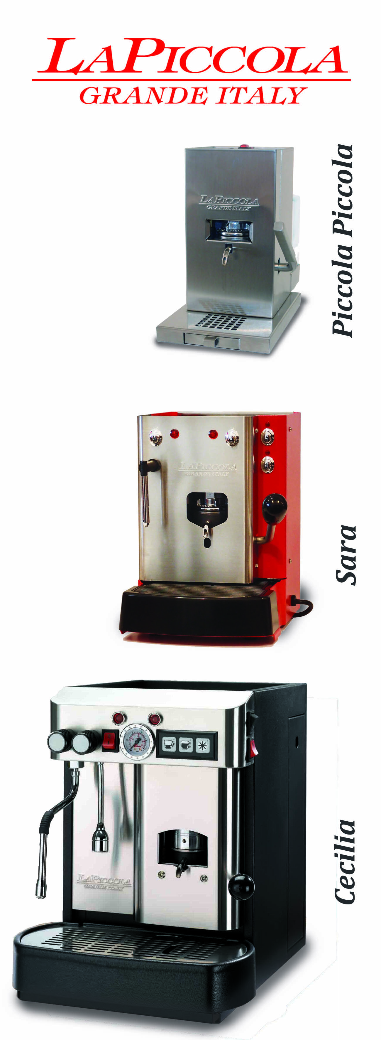 La Piccola ese coffee pod machine range