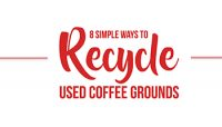 8 Simple Ways to Recycle Used Coffee Grounds – [Infographic]
